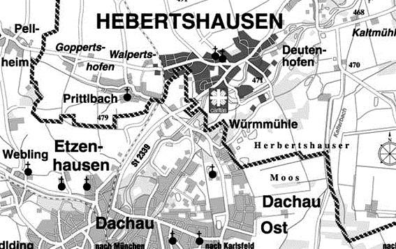 Здесь располагался полигон Хебертсхаузен.