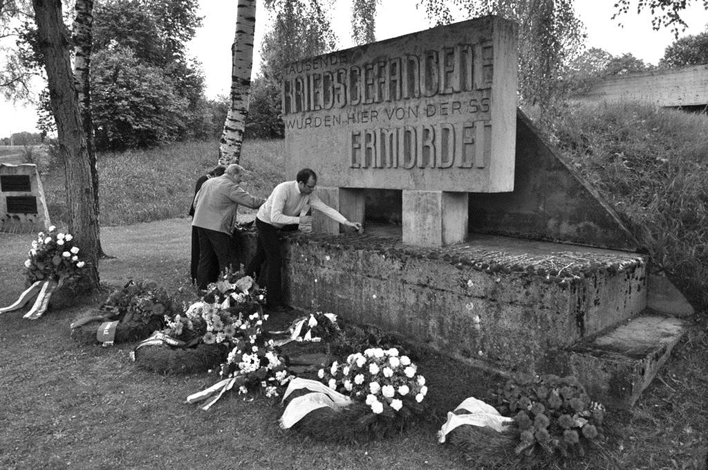 Памятник на месте гибели советских солдат.